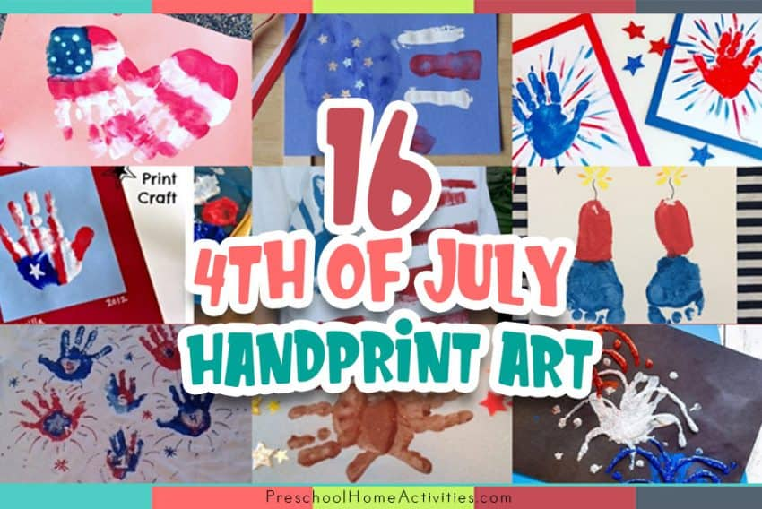 Fourth of July Handprint Crafts