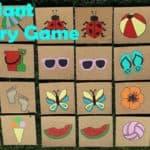 DIY Giant Outdoor Memory Game for Preschoolers
