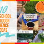 10 Preschool Outdoor Science Ideas
