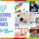 10 Preschool Math Games