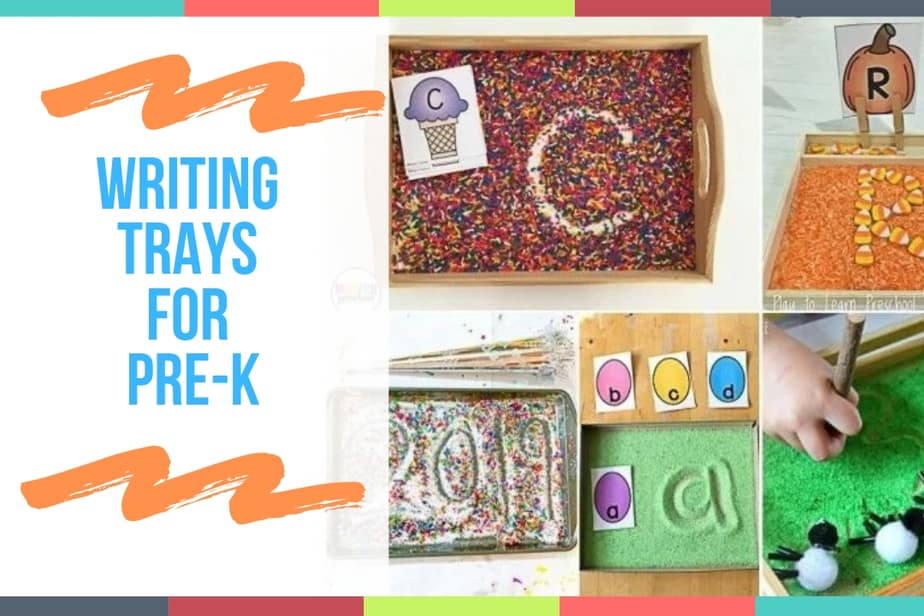 Writing Trays for Pre-K