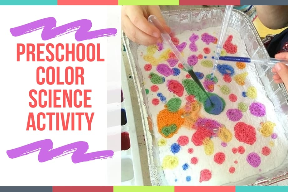 Preschool Color Science Activity