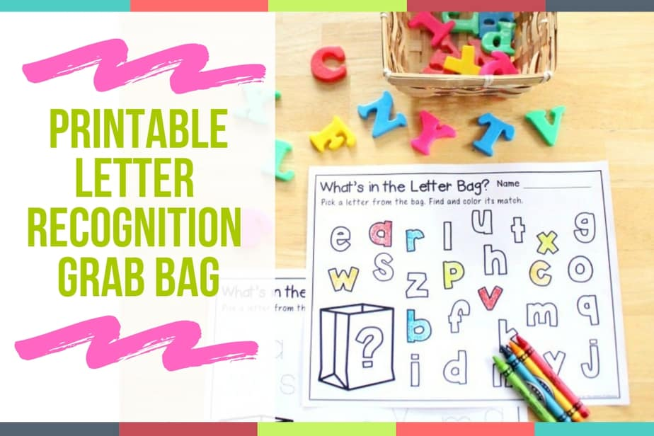 Printable Letter Recognition Bag