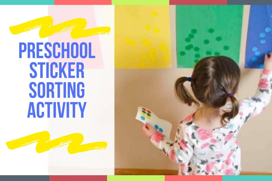 Preschool Sticker Sorting Activity