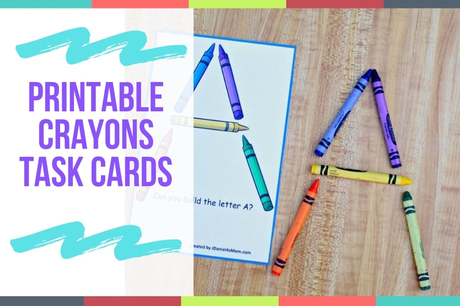 Printable Crayon Task Cards