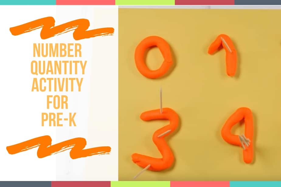 Number Quantity Activity For Pre-K