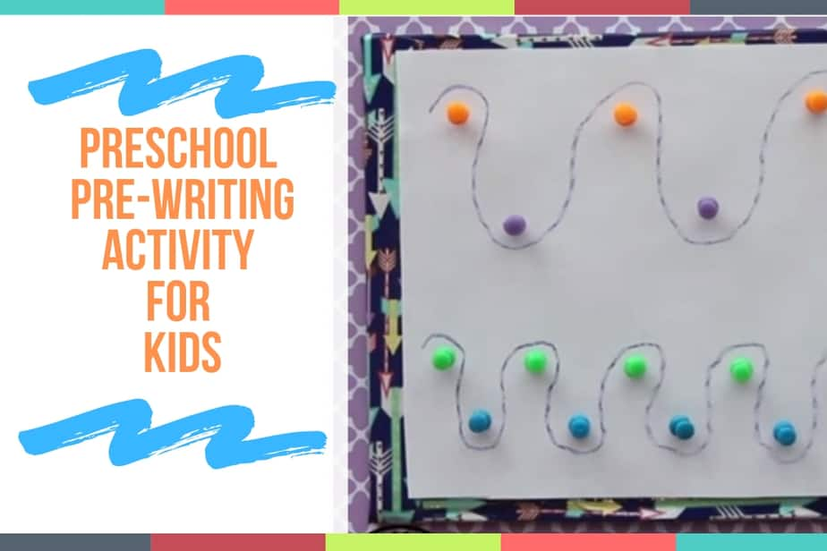 Preschool Pre-Writing Activity for Kids