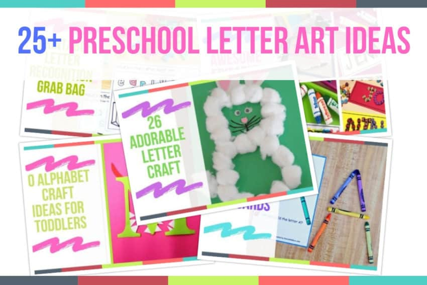 Preschoo Letter Art Ideas