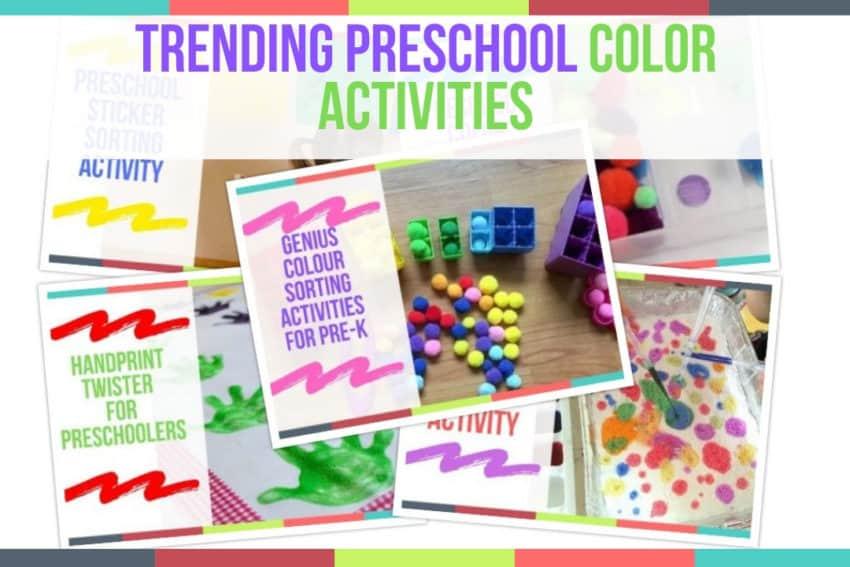 Trending Preschool Color Activities