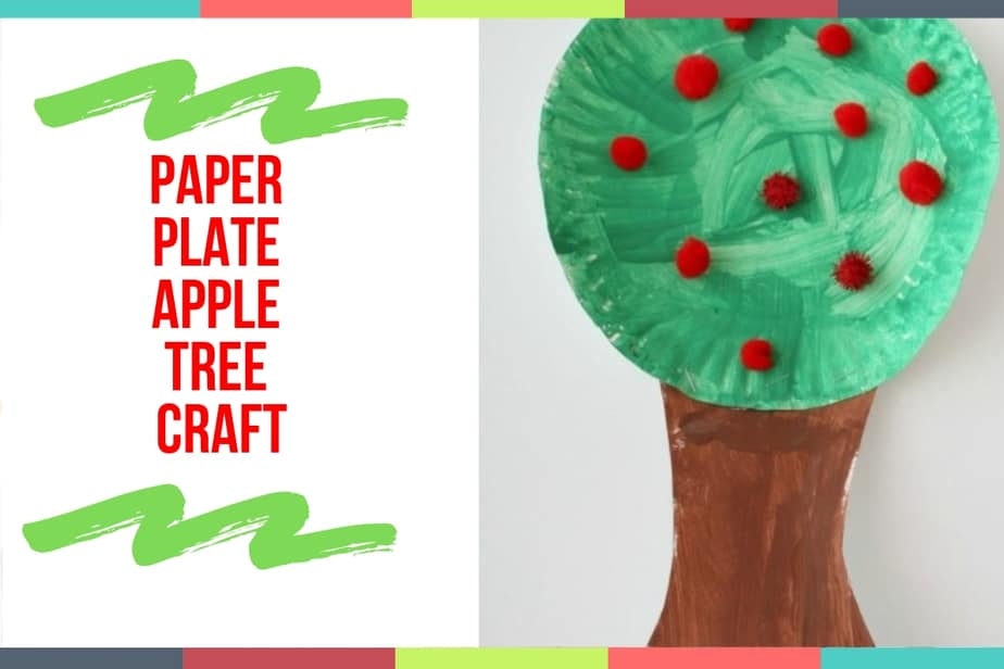 Paper Plate Apple Tree Craft