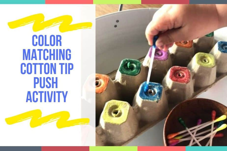Color Matching Cotton Tip Push Activity