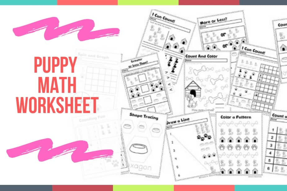 Puppy Math Worksheet