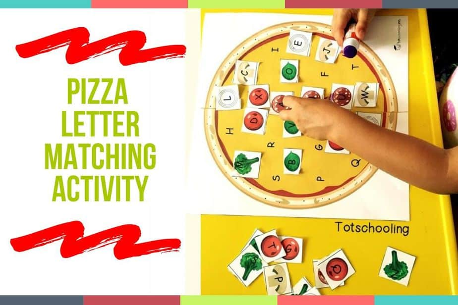 Pizza Letter Matching Activity