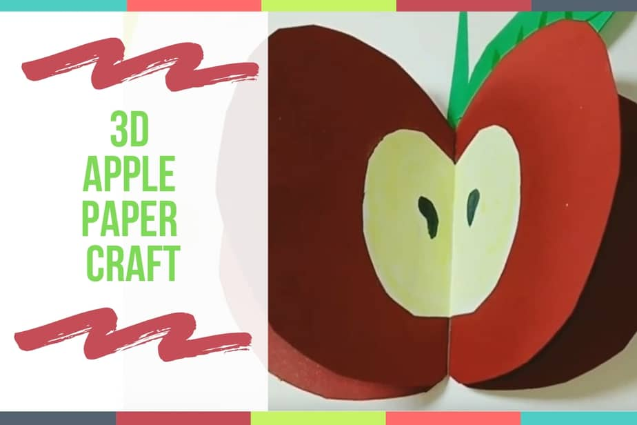 3D Apple Paper Craft