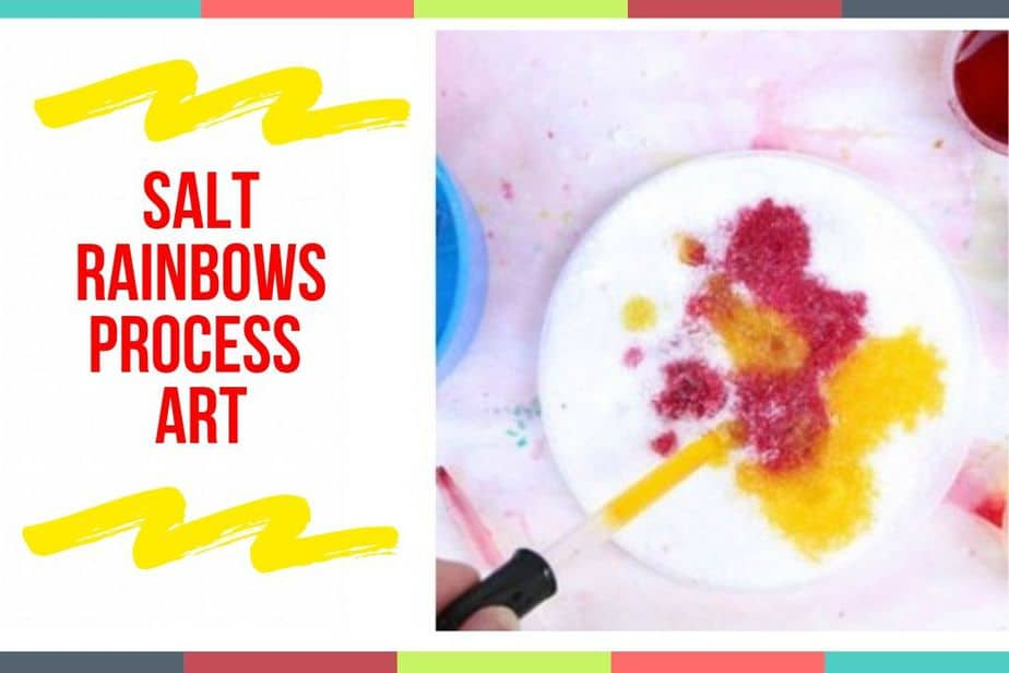 Salt Rainbows Process Art