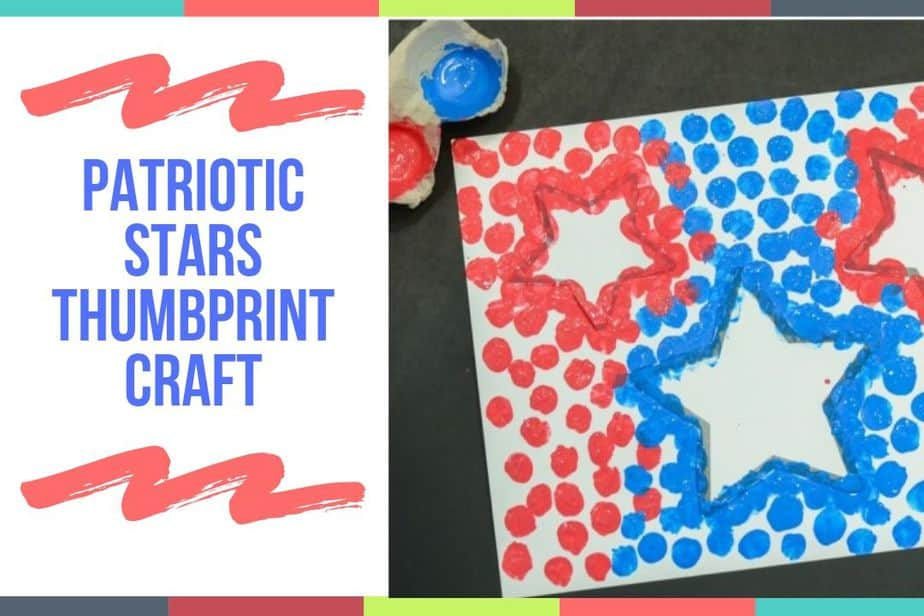 Patriotic Stars Thumbprint Craft