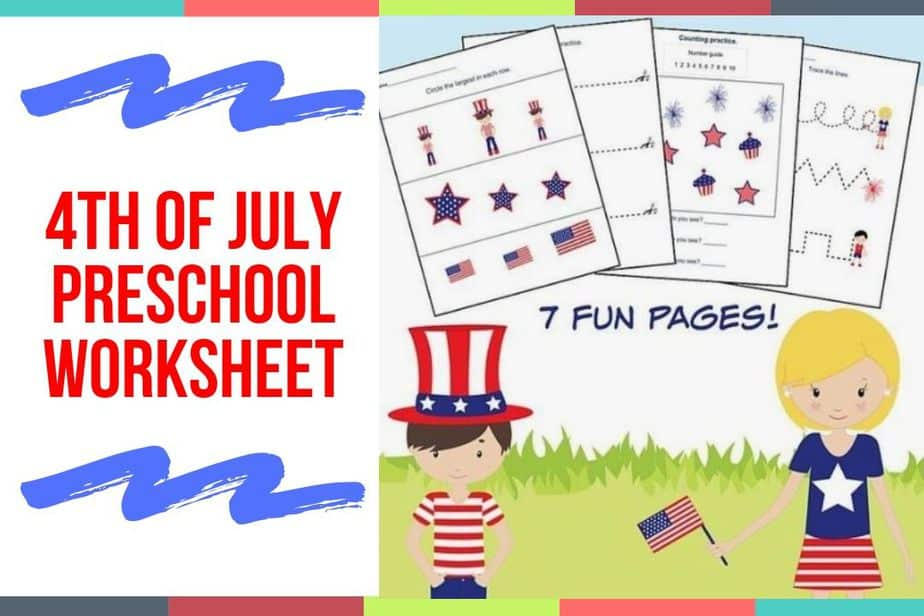4th of July Preschool Worksheet