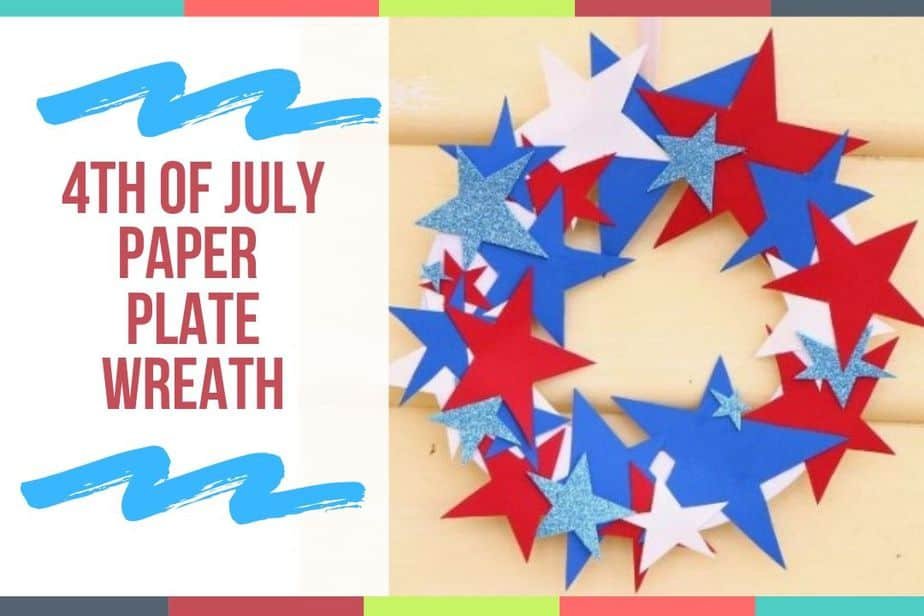 4th of July Paper Plate Wreath