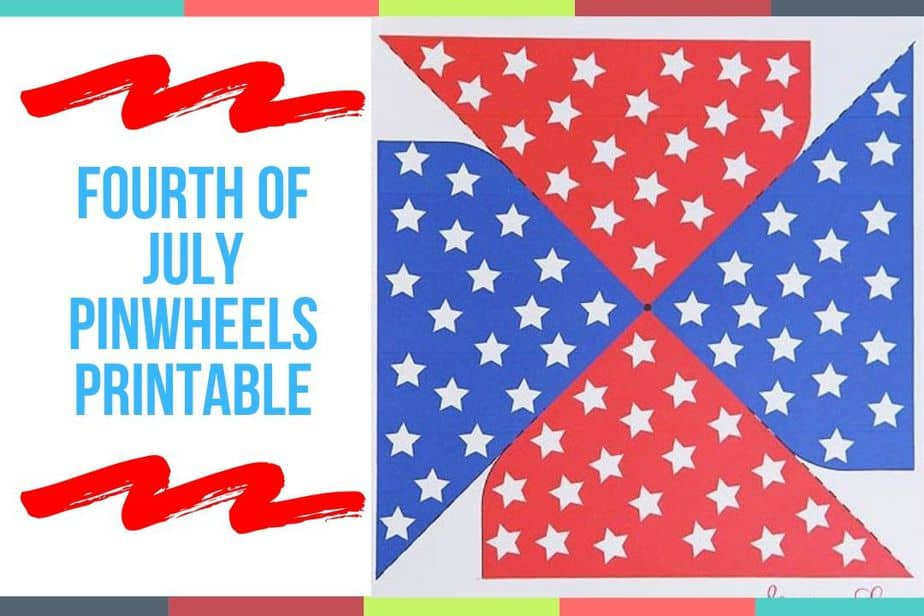 Fourth of July Pinwheels Printable