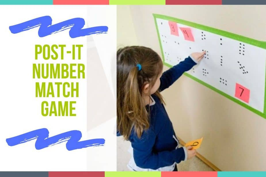 Post-It Number Match Game