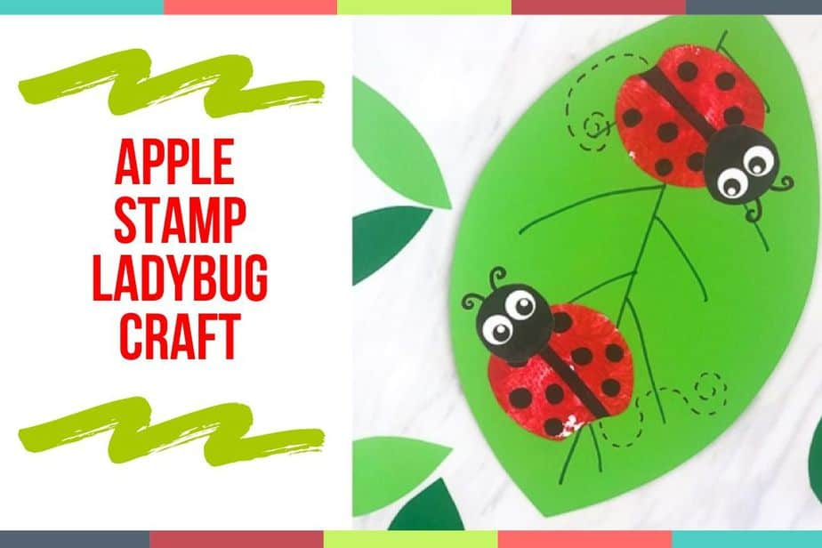 Apple Stamp Ladybug Craft