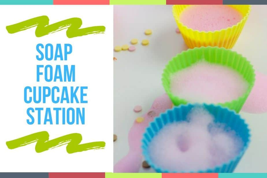 Soap Foam Cupcake Station