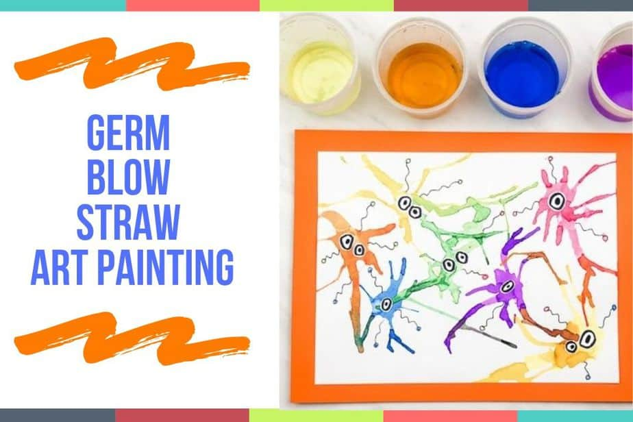 Germ Blow Straw Art Painting