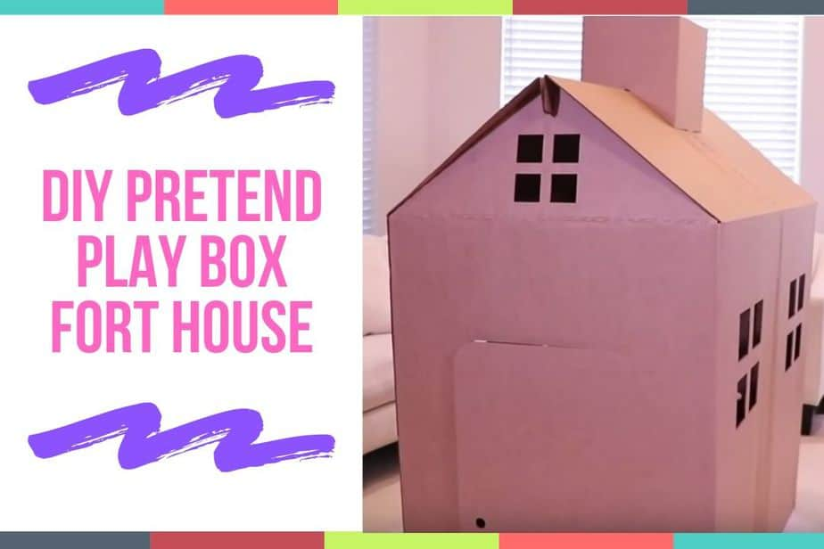 DIY Pretend Play Box Fort House