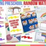 Trending Preschool Rainbow Math Ideas