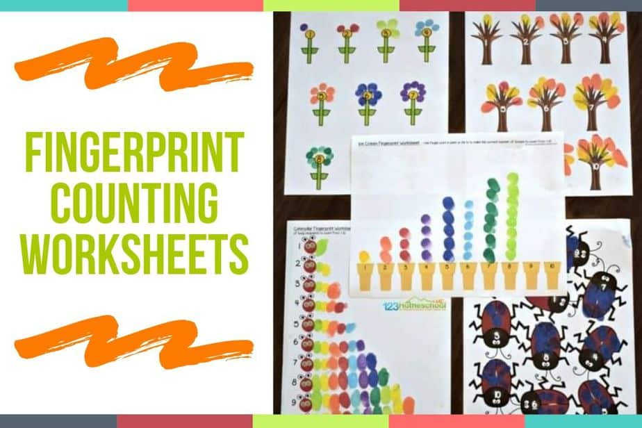 Fingerprint Counting Worksheets