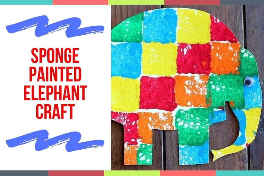 Sponge Painted Elephant Craft