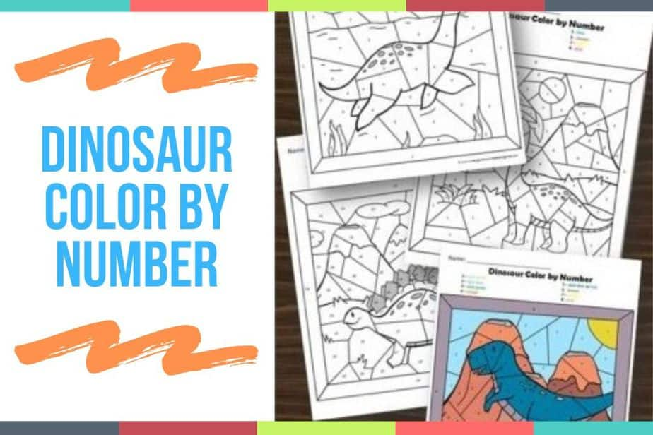 Dinosaur Color By Number