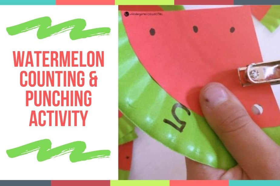 Watermelon Counting & Punching Activity