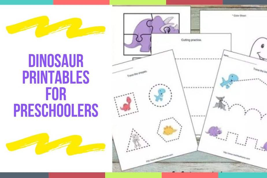 Dinosaur Printables For Preschoolers