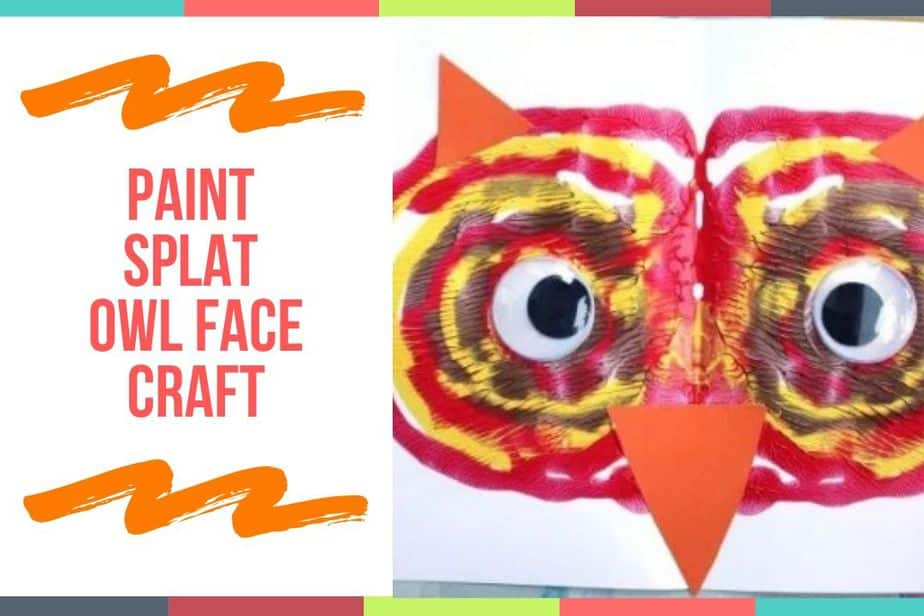 Paint Splat Owl Face Craft