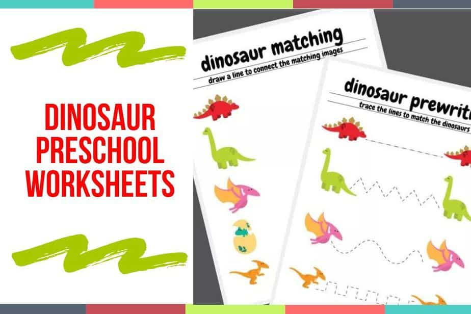 Dinosaur Preschool Worksheets