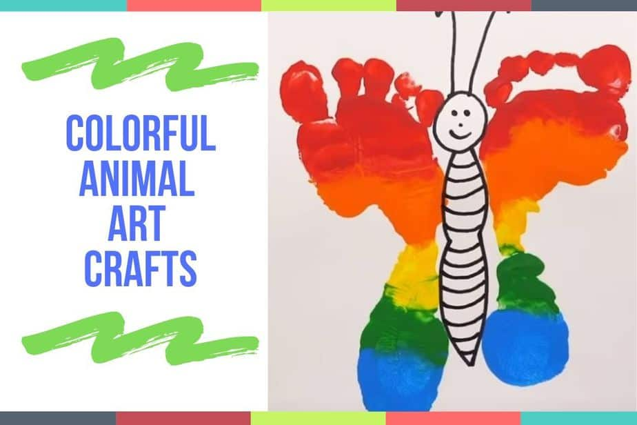 Colorful Animal Art Crafts