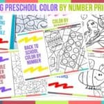 Trending Preschool Color By Number Printables