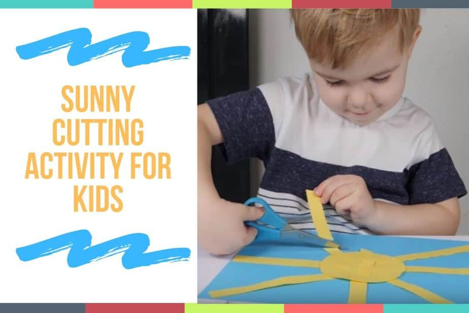 Sunny Cutting Activity For Kids