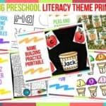 Trending Preschool Literacy Theme Printables