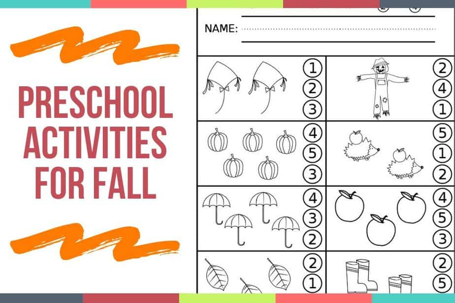 Preschool Activities For Fall