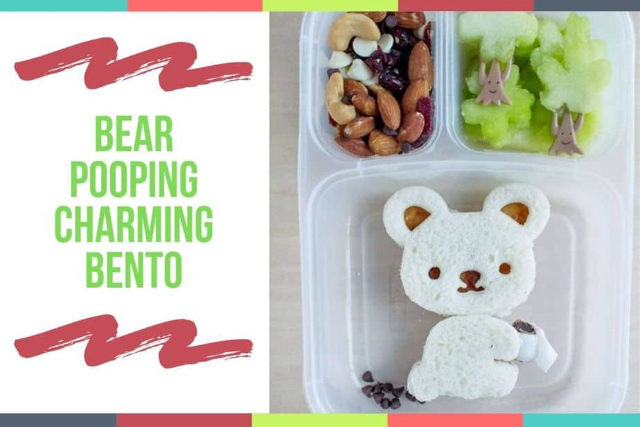 Bear Pooping Charming Bento
