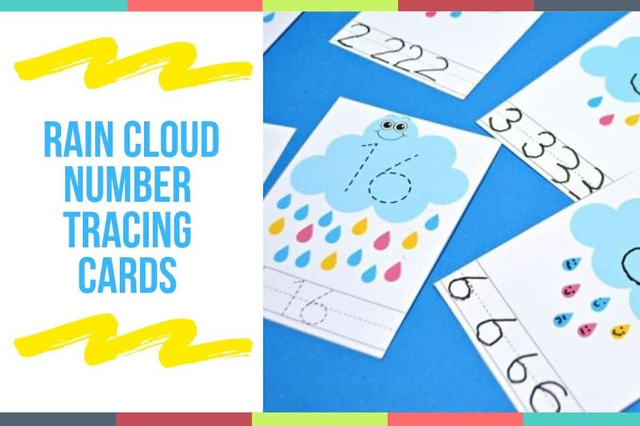Rain Cloud Number Tracing Cards
