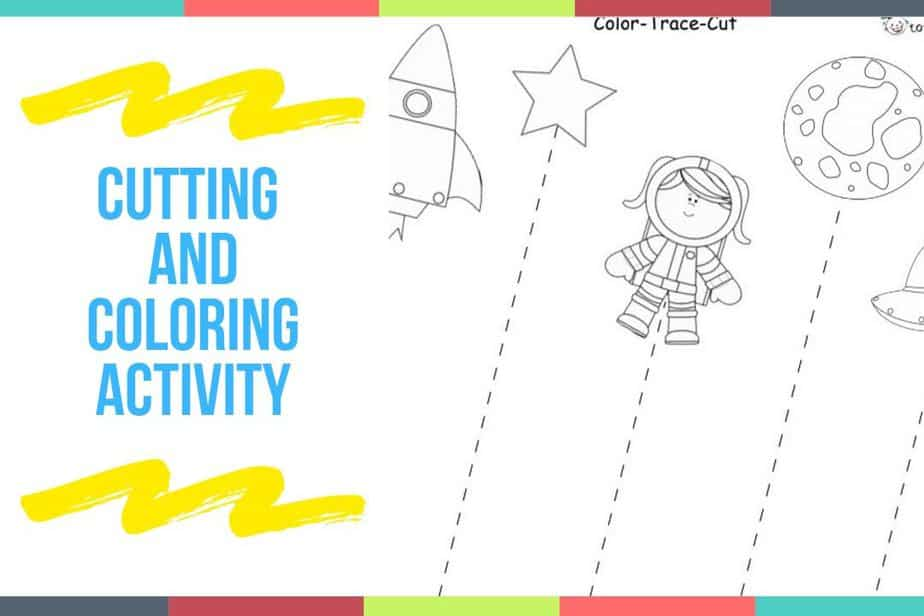 Cutting And Coloring Activity