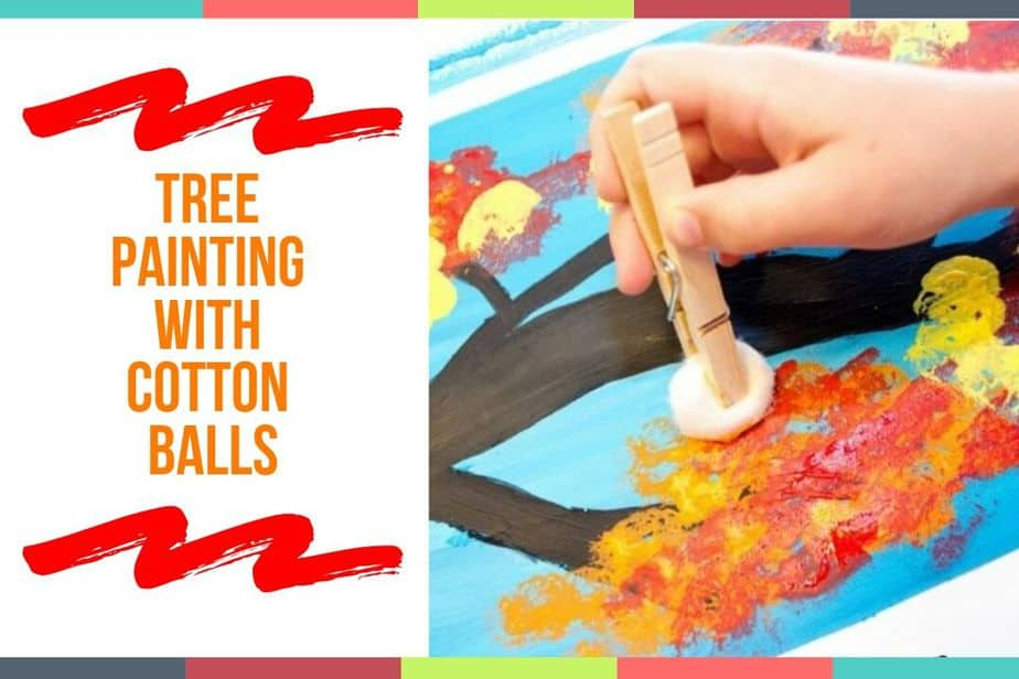 Tree Painting With Cotton Balls