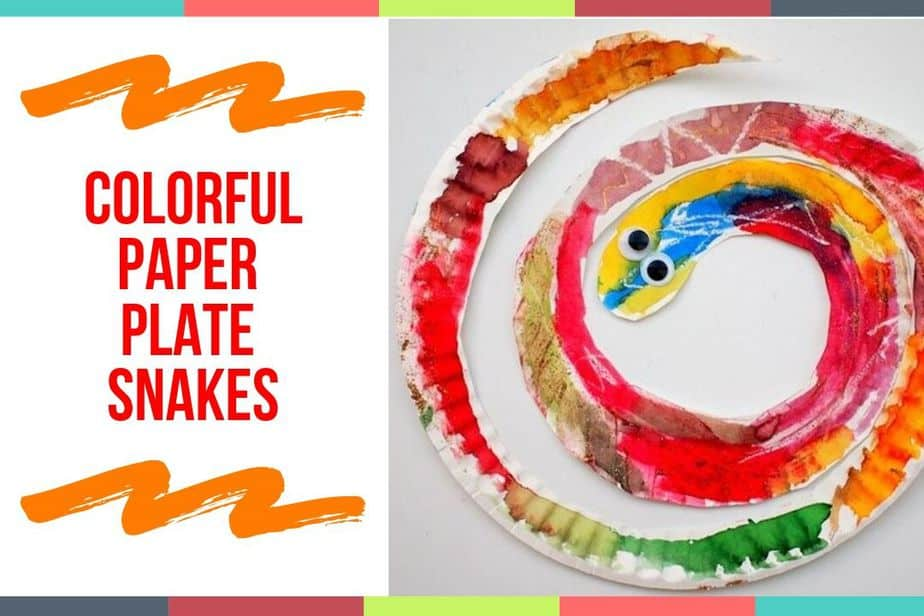 Colorful Paper Plate Snakes