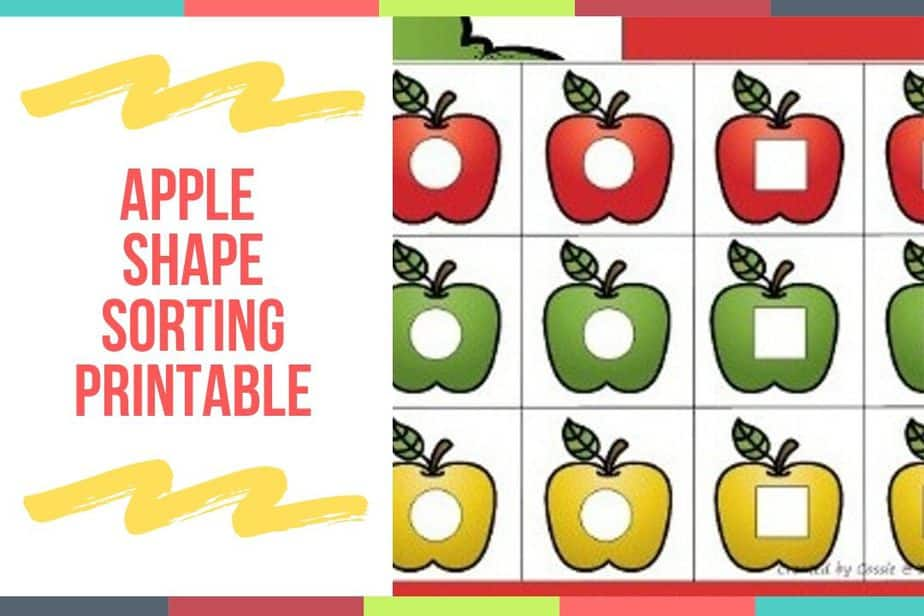 Apple Shape Sorting Printable