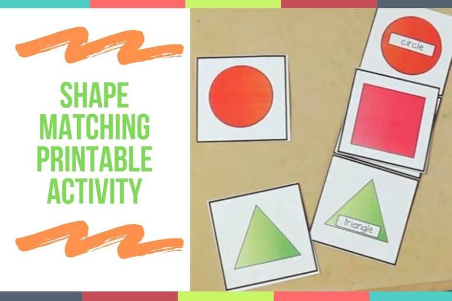 Shape Matching Printable Activity