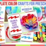 Paper Plate Color Crafts For Preschoolers