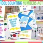 Preschool Counting Numbers Activities